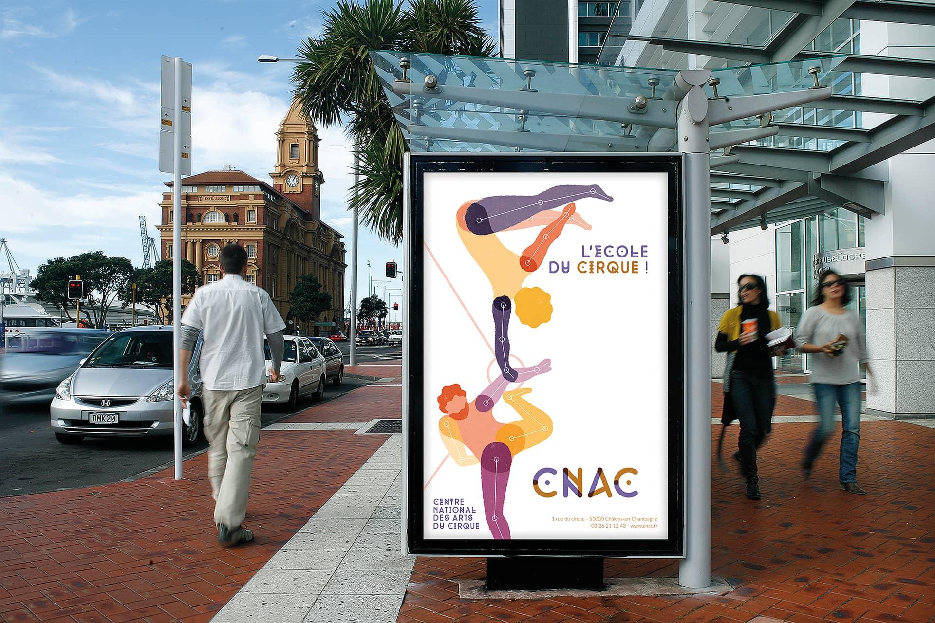 Affiche sur arrêt de bus