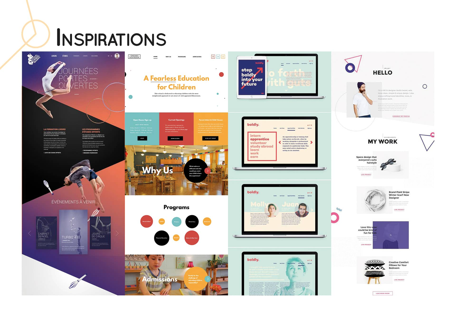 Inspirations site web
