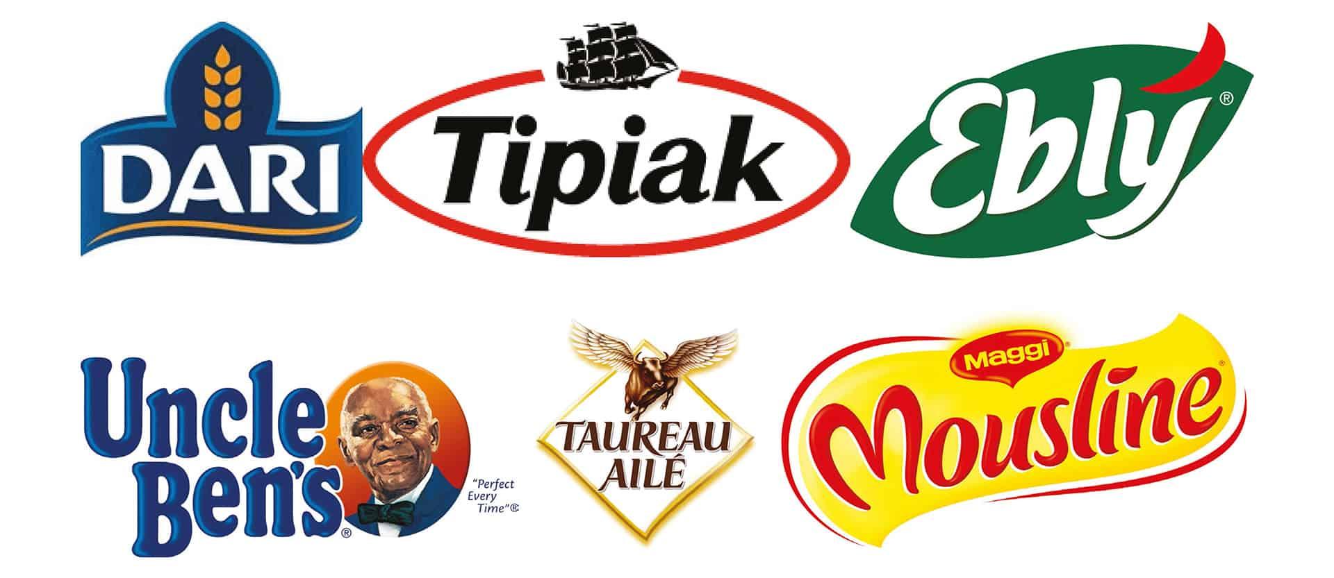 Logos de marques de riz et blé