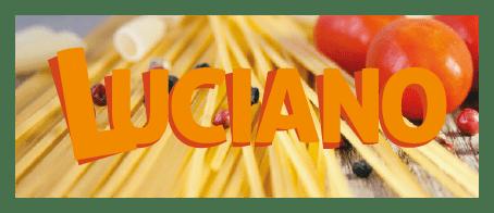 Logotype sur image de la marque de pâtes Luciano