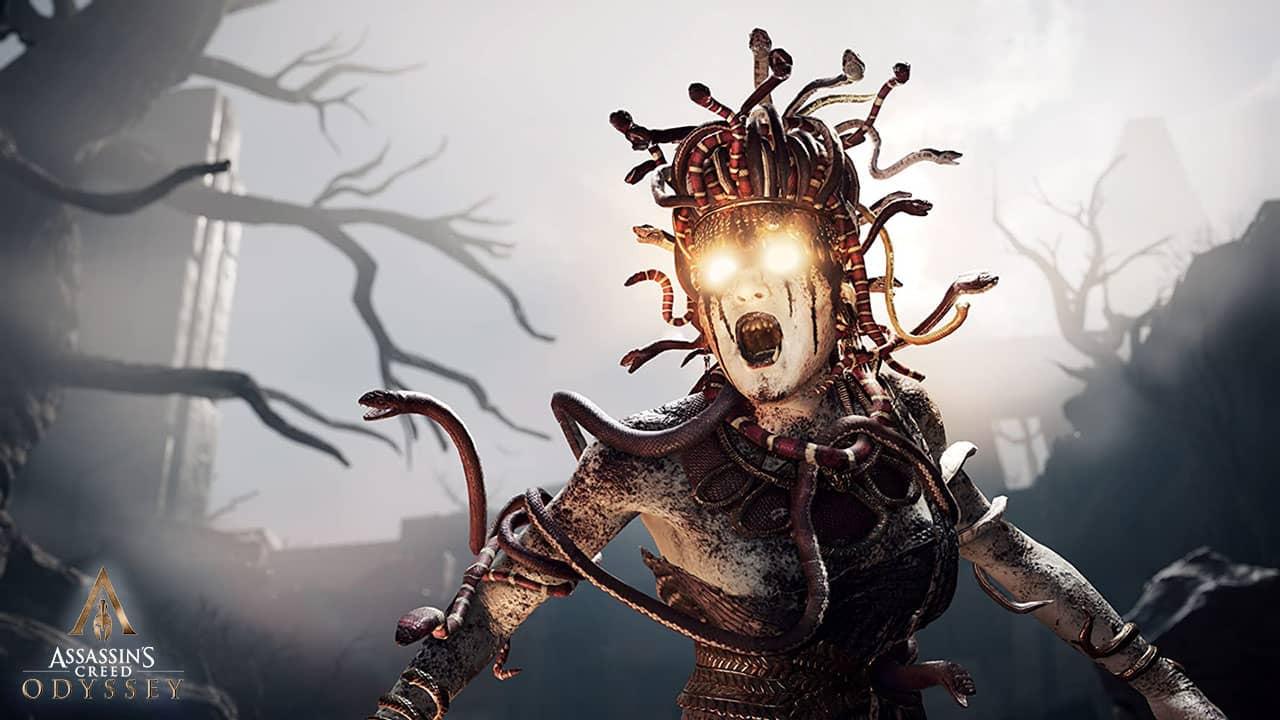 Confrontation avec l'hologramme de Medusa dans Assassin's Creed Odyssey