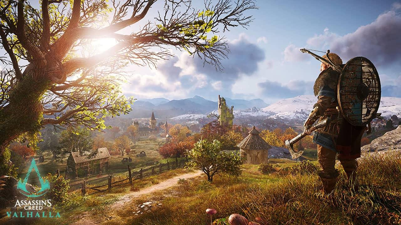 Village à la portée du personnage principal de Assassin's Creed Valhalla
