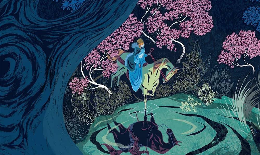Couverture de « L'âge d'or », avec Tilda sur son cheval au pied d'un lac dans une forêt