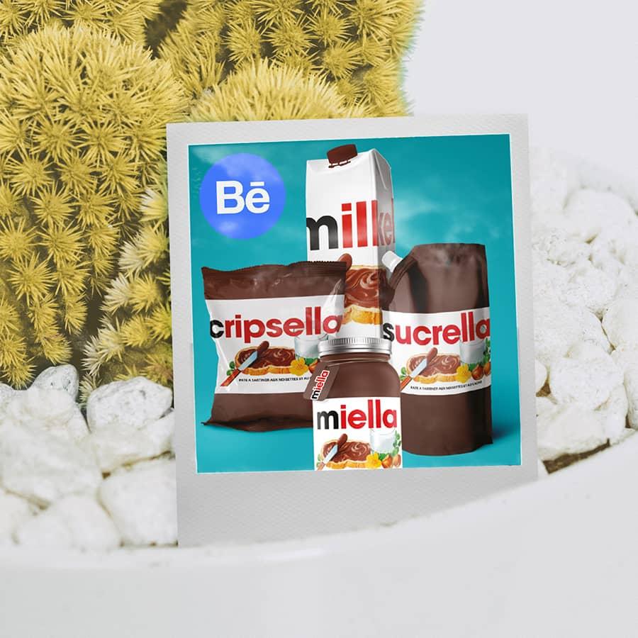 Projet de graphisme d'affiche Nutella