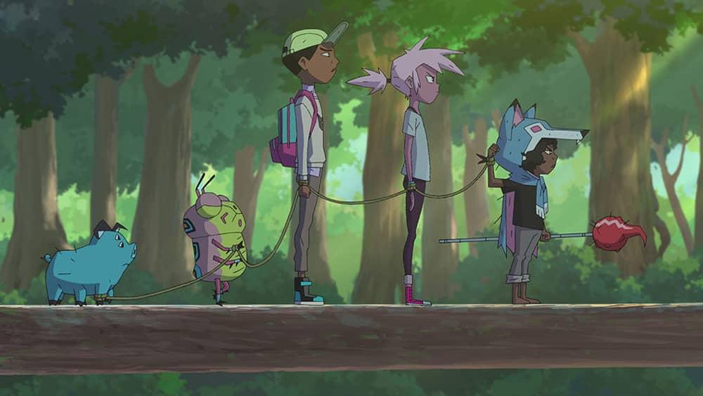 Les personnages principaux de la série Kipo