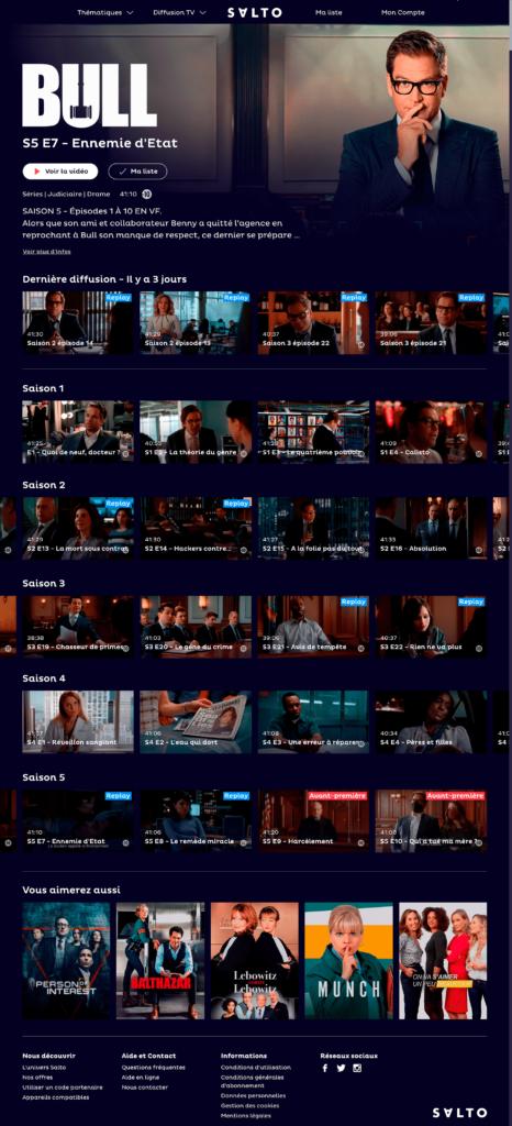 Proposition d'amélioration pour la distinction du replay et du streaming grâce au menu, au tri des contenus et aux pastilles de vignettes