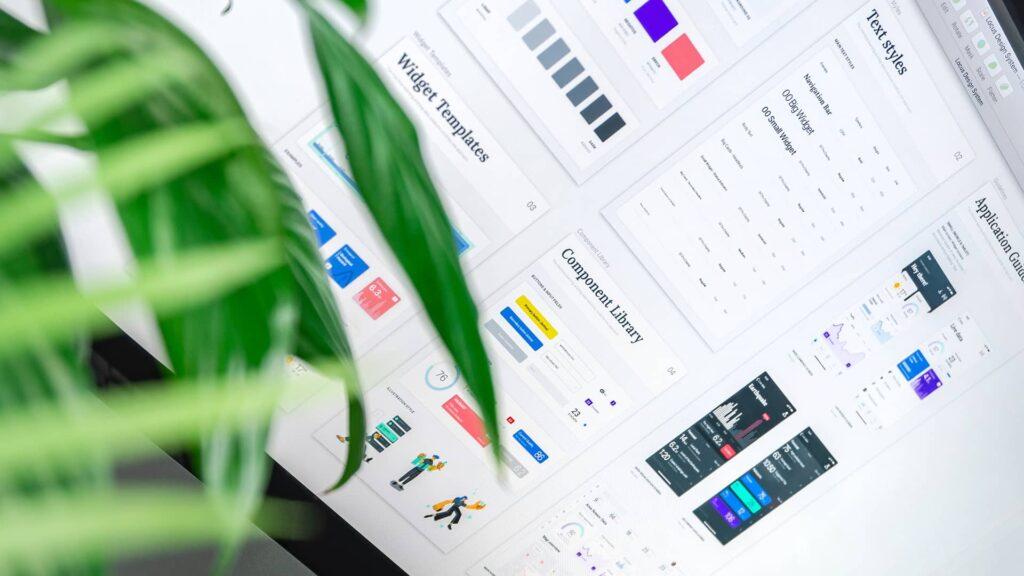 Aperçu d'un Design System présentant les éléments génériques d'interfaces