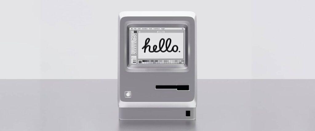 Un des premiers ordinateurs Macintosh.